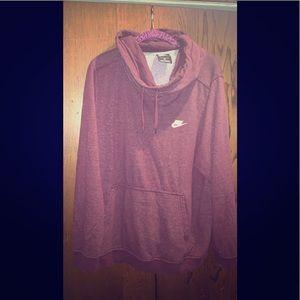 2x maroon Nike hoodie